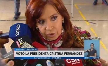 Cristina no se podía ir sin transgredir la ley