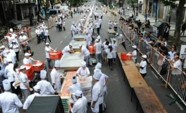 La pizza más larga de Buenos Aires tiene 500 metros