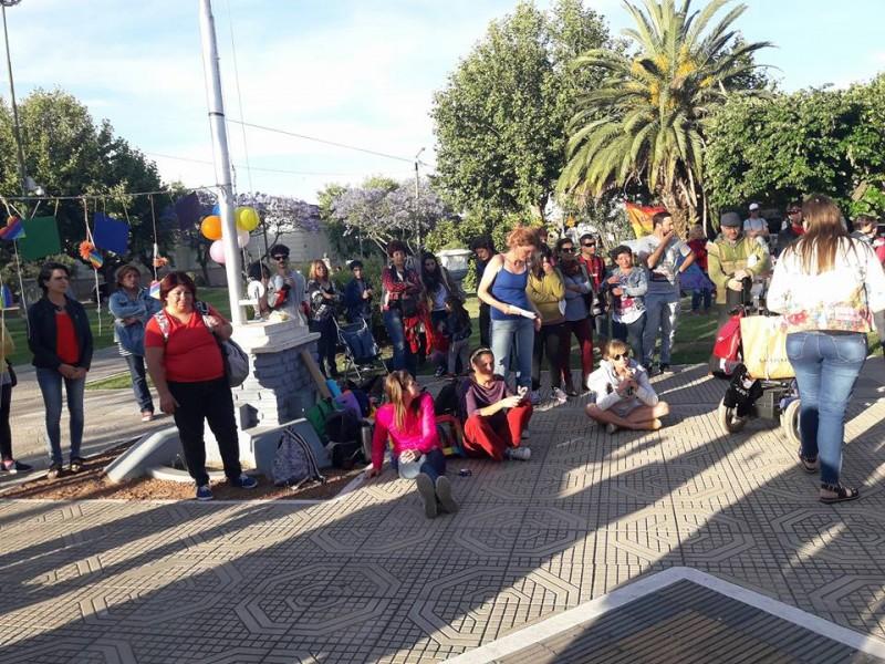 En plaza Rivadavia se llevó a cabo la propuesta