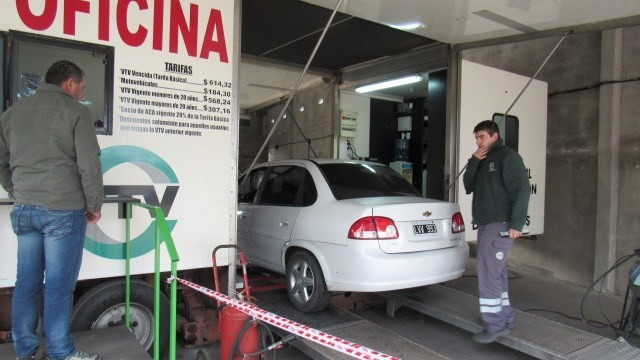 Llegó a Los Toldos la verificación vehicular (VTV)
