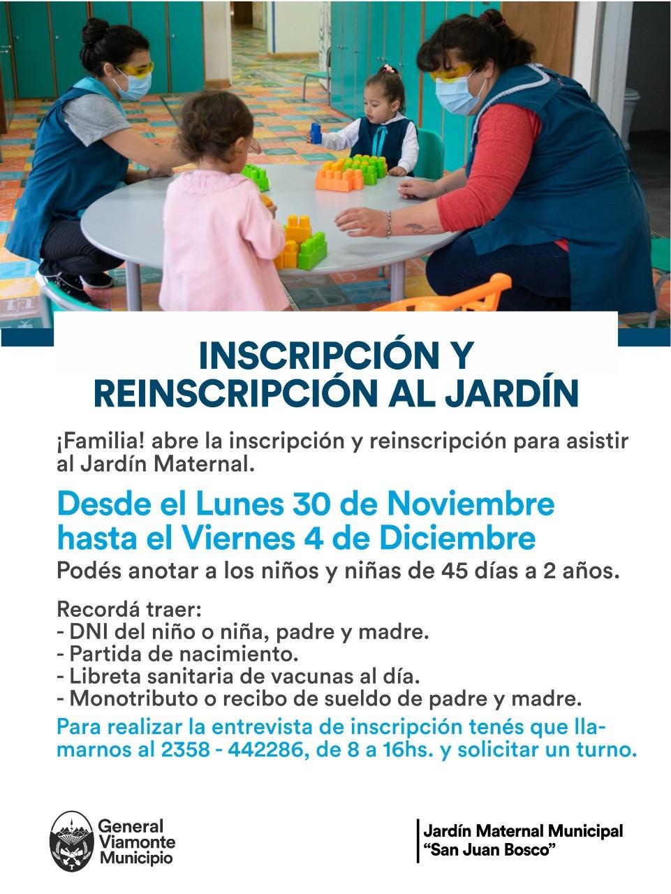 Abre la inscripción y reinscripción para asistir al jardín Maternal