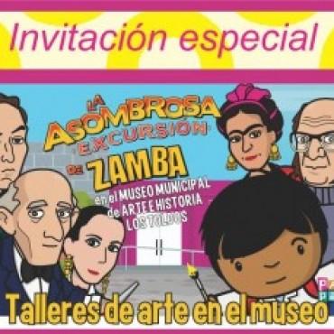 """""""Zamba de excursión en el Museo Municipal de Arte e Historia Los Toldos""""."""