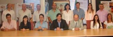 La foto que todos querian ver! El Dr Franco Flexas presentò su equipo de gobierno