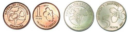 ¿Cómo son las nuevas monedas de 1 y 5 pesos?