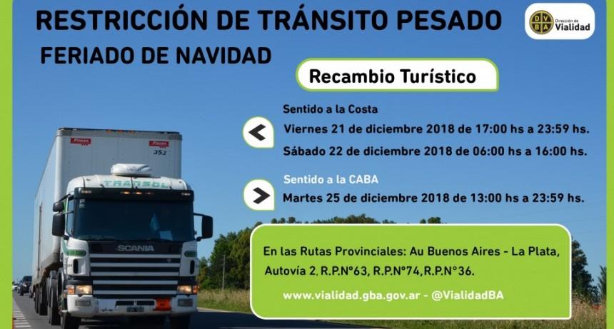Restringen la circulación de camiones por Navidad en las rutas bonaerenses