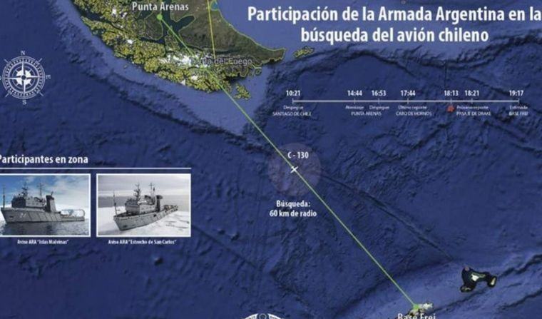 Hallaron restos humanos y del avión chileno desaparecido