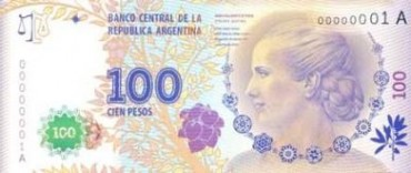 Cristina Fernandez, presentó el nuevo billete con la imagen de Eva Perón