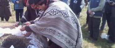 En Olascoaga se realizó la Fiesta de la Pachamama
