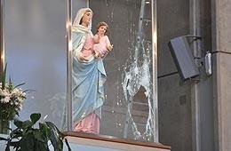 Afirman que robo a la Virgen podría estar vinculado a