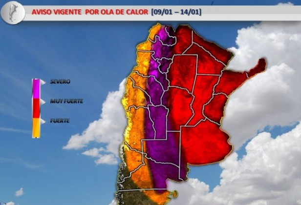 La ola de calor sofocante perdurará hasta el lunes: INFORME ESPECIAL DEL SMN