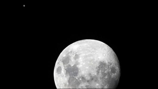 La Luna tapa a Júpiter