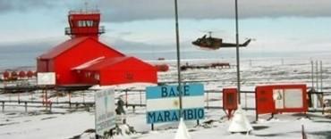Walter Ogando días atrás se comunicó con la Base Marambio y salió al aire desde allí