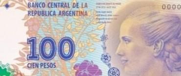 Imprimen más billetes de $100 de Evita para reemplazar a Roca