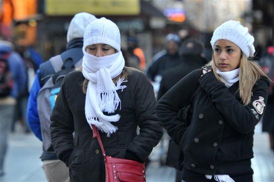 Con más frío que en Ushuaia