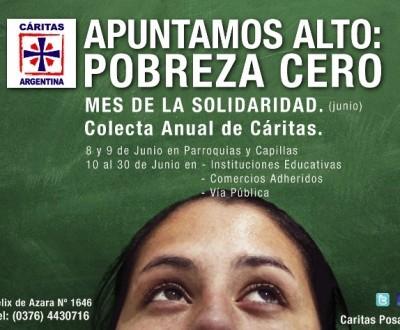 Cáritas lanzó la campaña solidaria